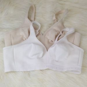 Lot of 2 Cacique 40C cotton unlined no wire bras